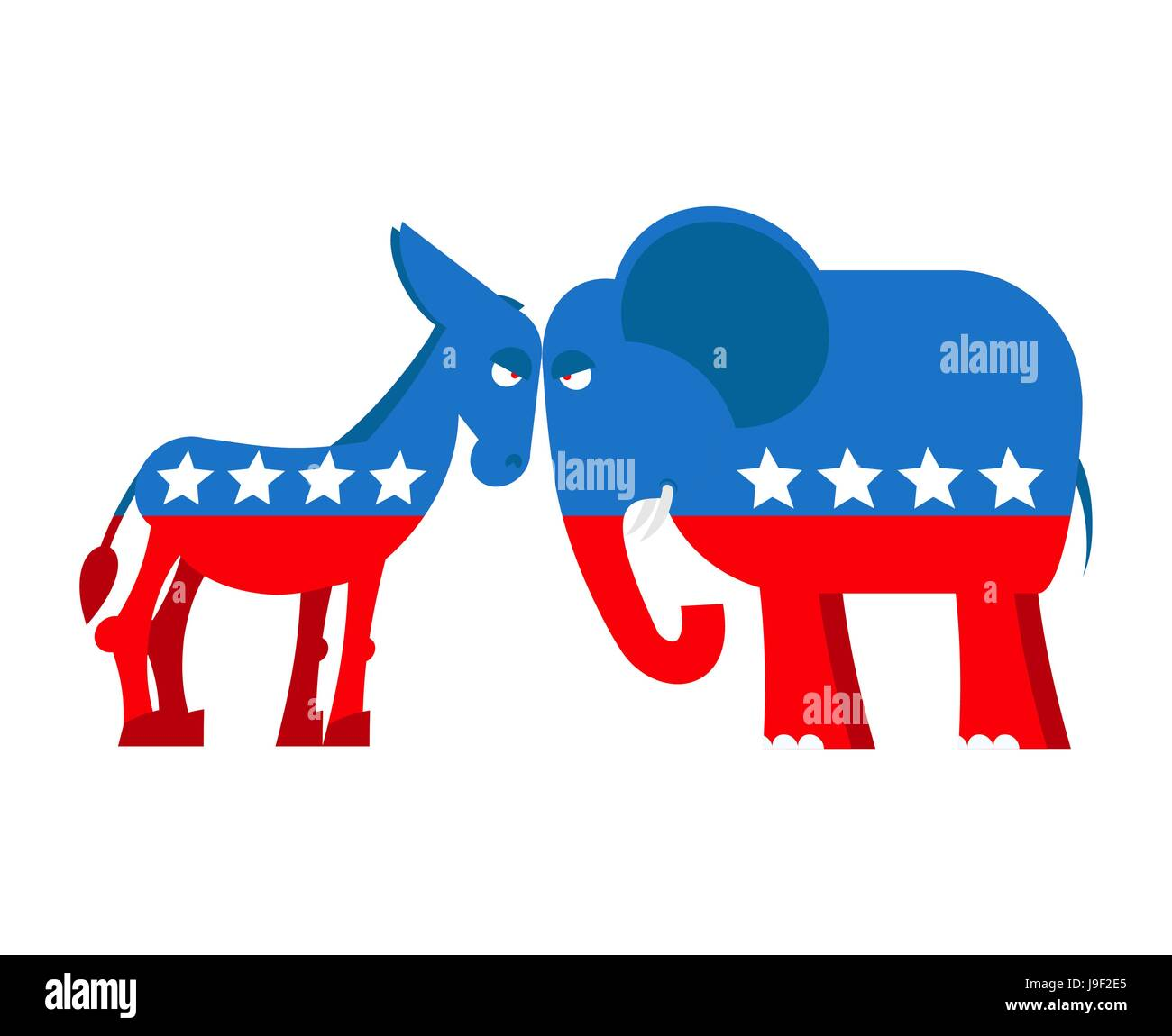 Donkey and elephant symbols of political parties in america usa donkey and elephant symbols of political parties in america usa elections democrats against republicans opposition to american policy democratic d buycottarizona