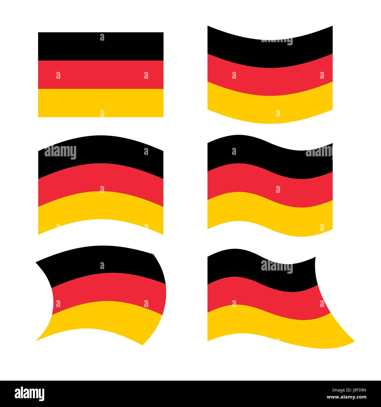 germany flag set of flags of german republic in various forms