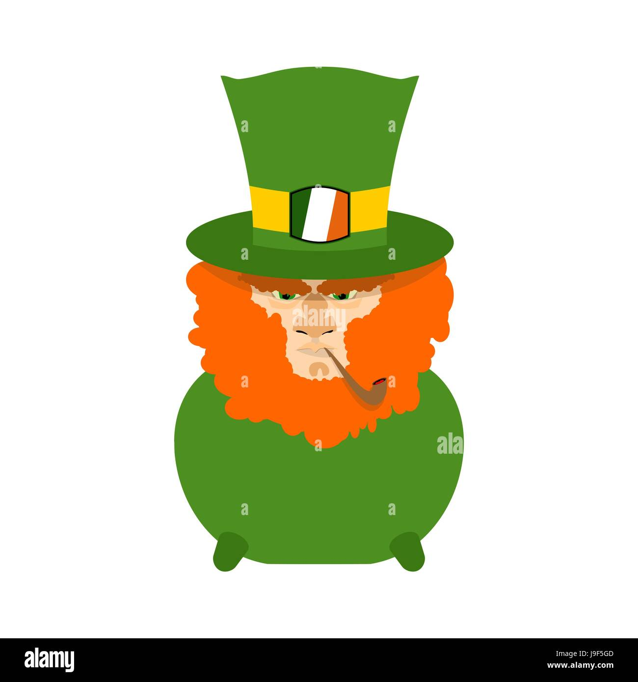 Uncategorized Leprechaun Pot leprechaun with red beard in pot st patricks day character irish holiday