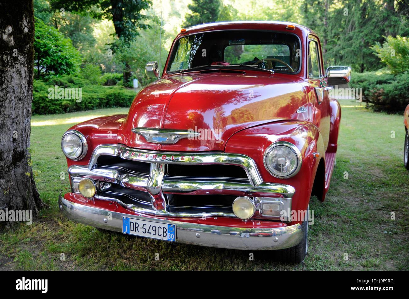 PORRETTA TERME, ITALY - June 2013 : classic old Chevrolet car on ...