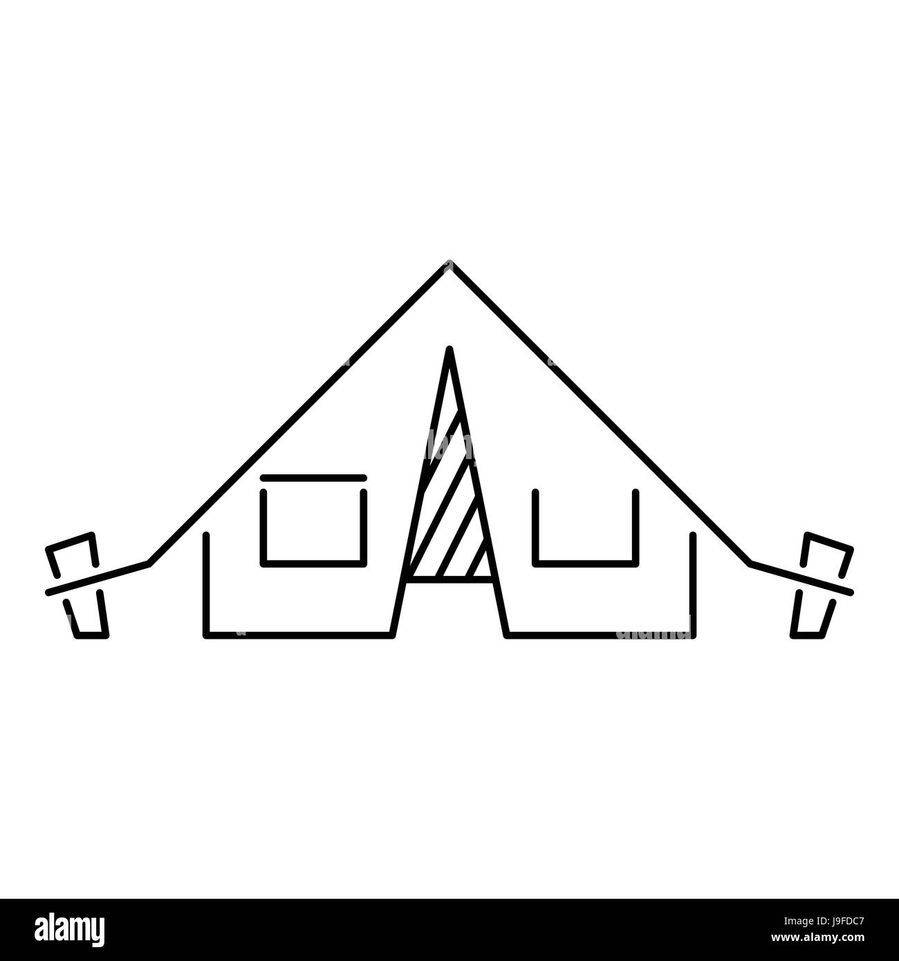 Tent icon outline style  sc 1 st  Alamy & Tent icon outline style Stock Vector Art u0026 Illustration Vector ...