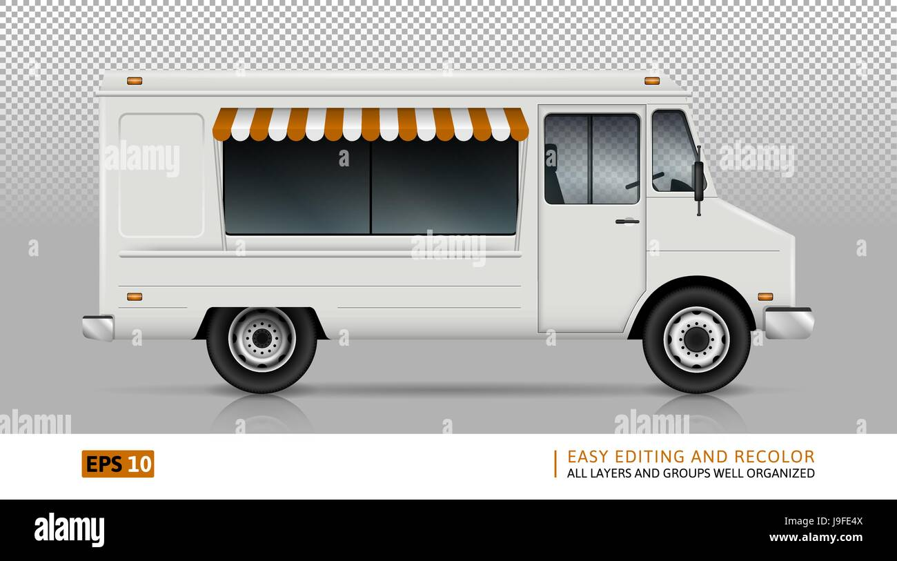 Food truck vector template for car branding and advertising food truck vector template for car branding and advertising isolated delivery van on white background pronofoot35fo Images