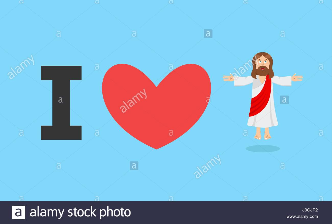 I love jesus symbol of heart and son of god biblical characters symbol of heart and son of god biblical characters holy man religious sign for believers christ catholic and christian hero savior biocorpaavc Image collections