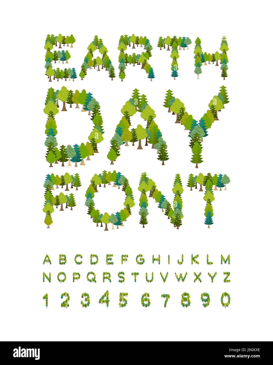 Earth Day Concept With Earth Inspired Letters Stock Illustration ...
