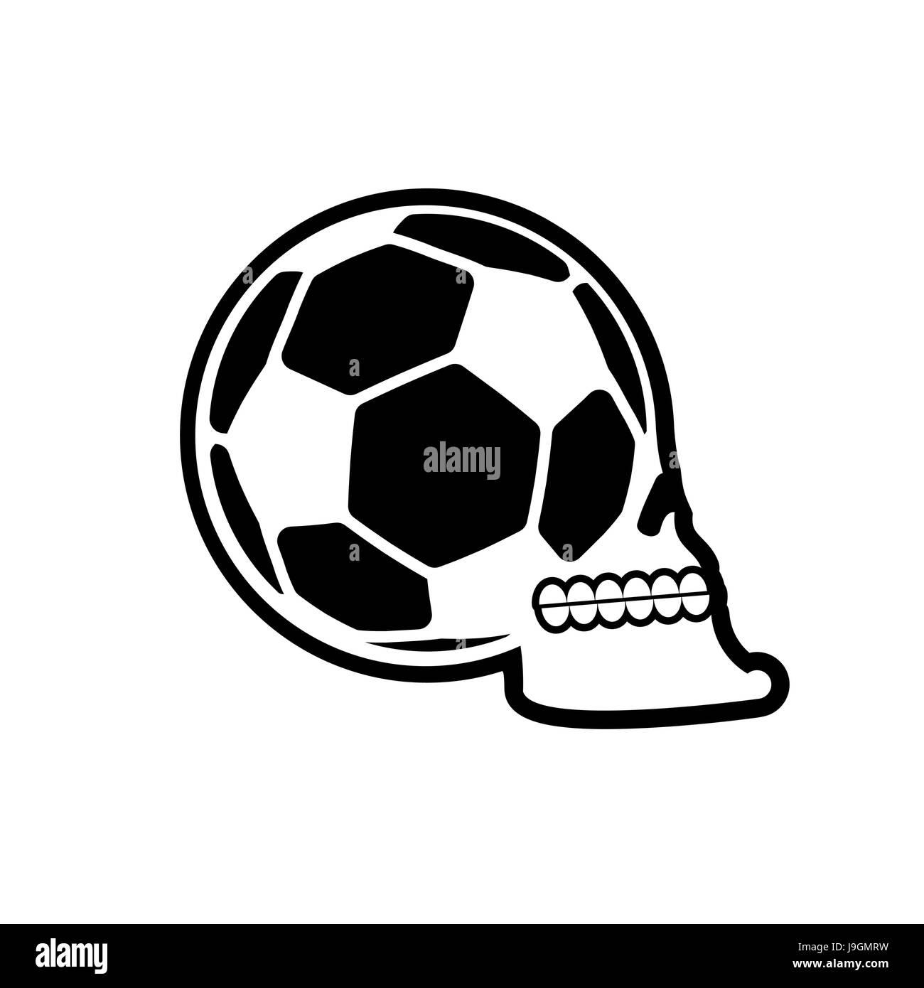 Soccer ball skull football fans emblem skeleton head symbol for football fans emblem skeleton head symbol for sport lover buycottarizona