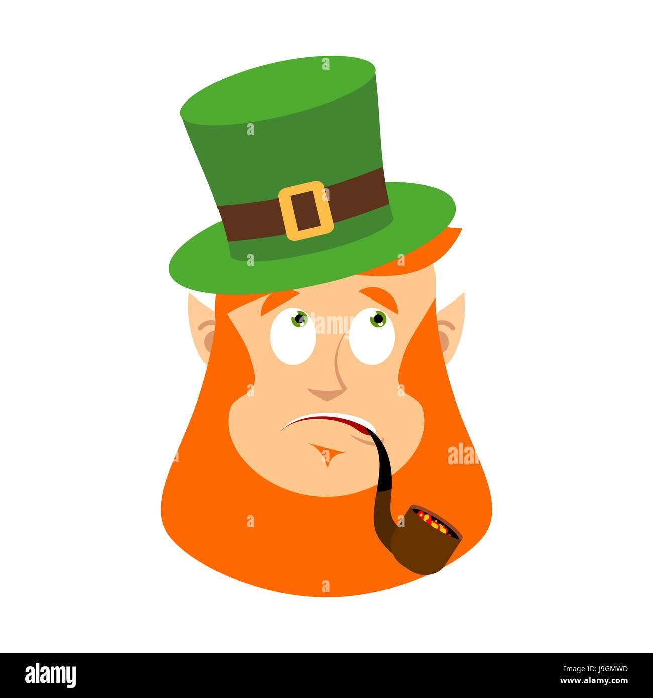 st patrick u0027s day leprechaun surprised dwarf with red beard