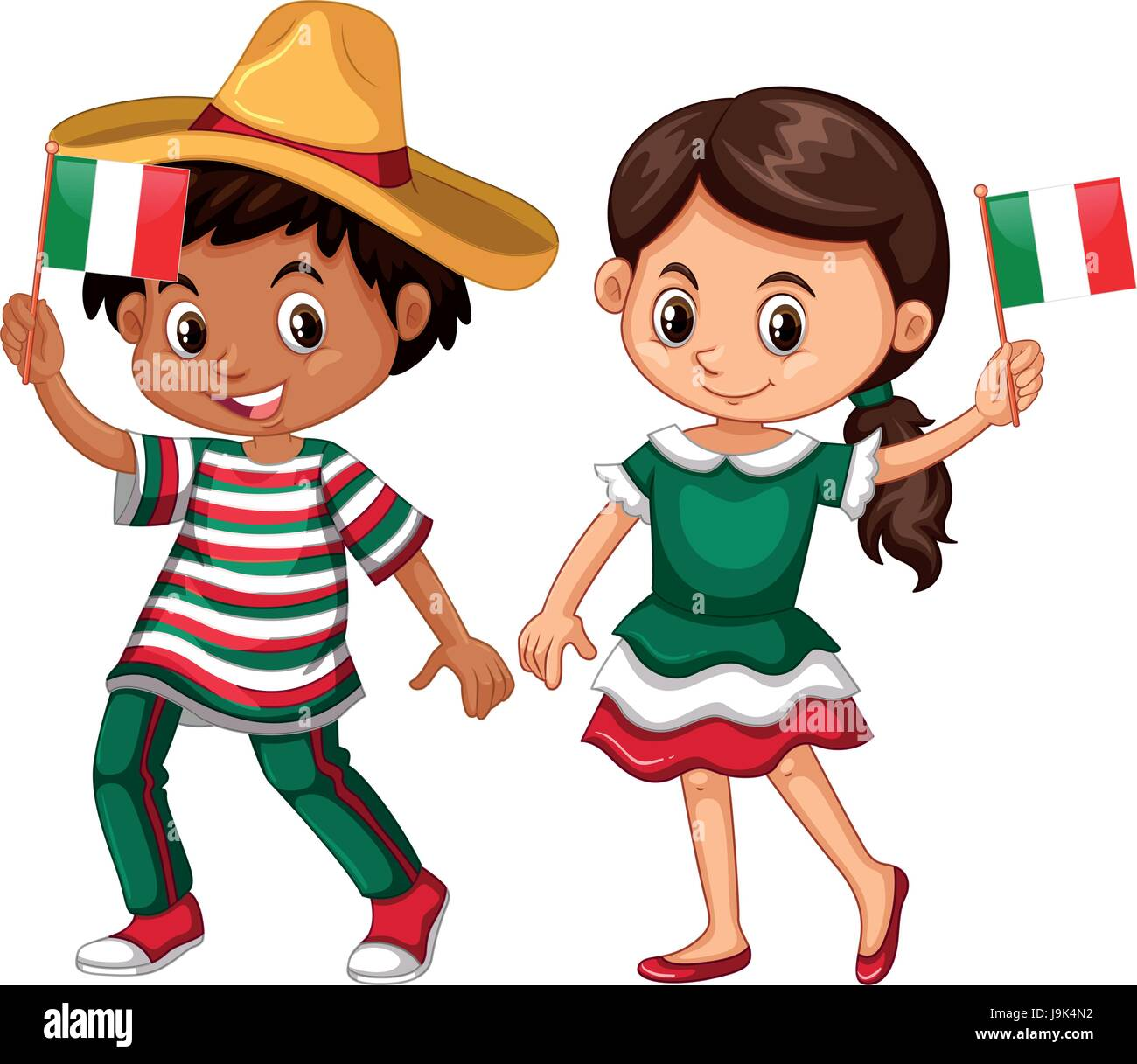 happy boy and girl holding flag of mexico illustration mariachi clipart free mariachi clipart free