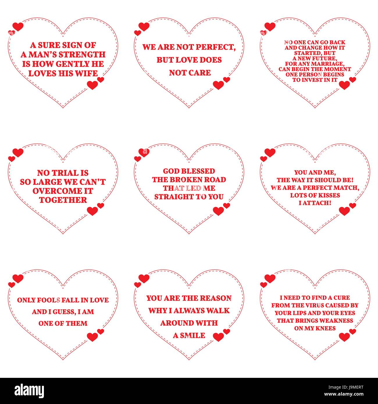 Simple Quotes About Love Classy Set Of Quotes About Love Over White Backgroundsimple Heart Shape