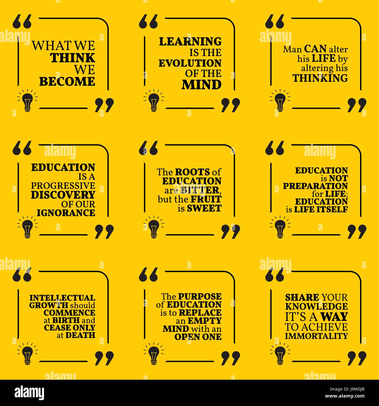 Education And Life Quotes Set Of Motivational Quotes About Wisdom Intelligence Thinking