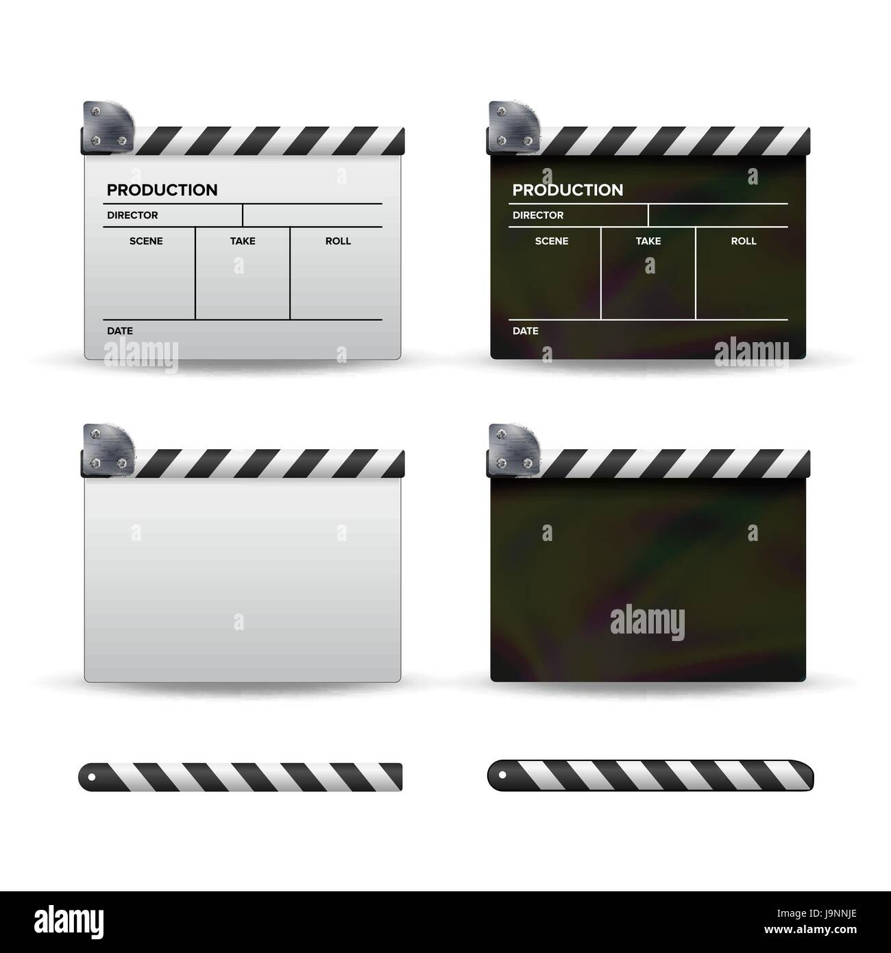 clapper board vector. set of movie clapper board. template symbol, Powerpoint templates
