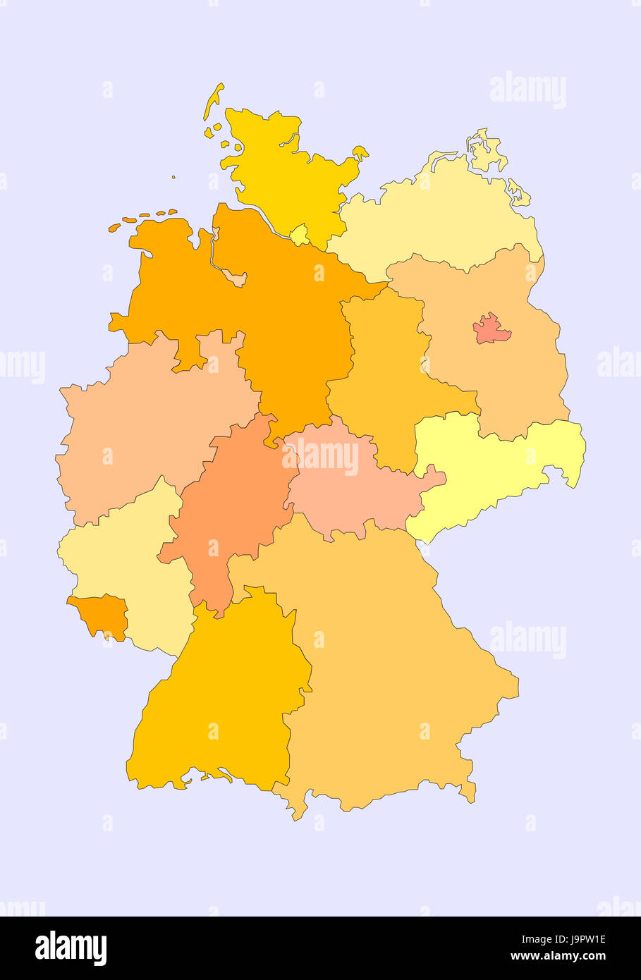 Computer GraphicsGermanymapfederal States Stock Photo Royalty - Germany map federal states