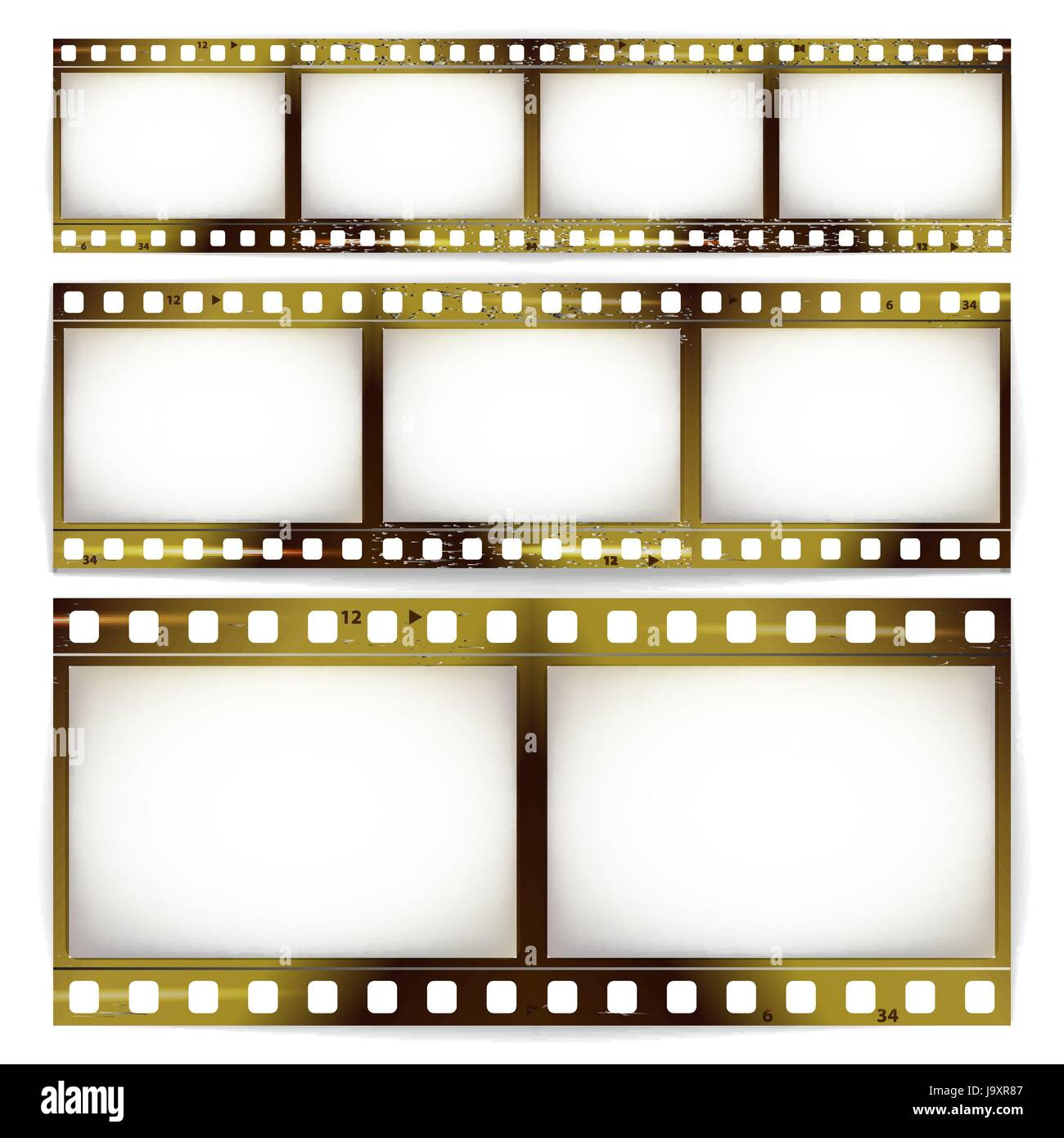 Film strip vector set cinema of photo frame strip blank scratched film strip vector set cinema of photo frame strip blank scratched isolated on white jeuxipadfo Image collections