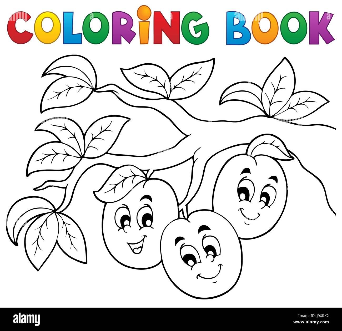 Colour Progenies Fruits Fruit Paint Painted Plum Colouring