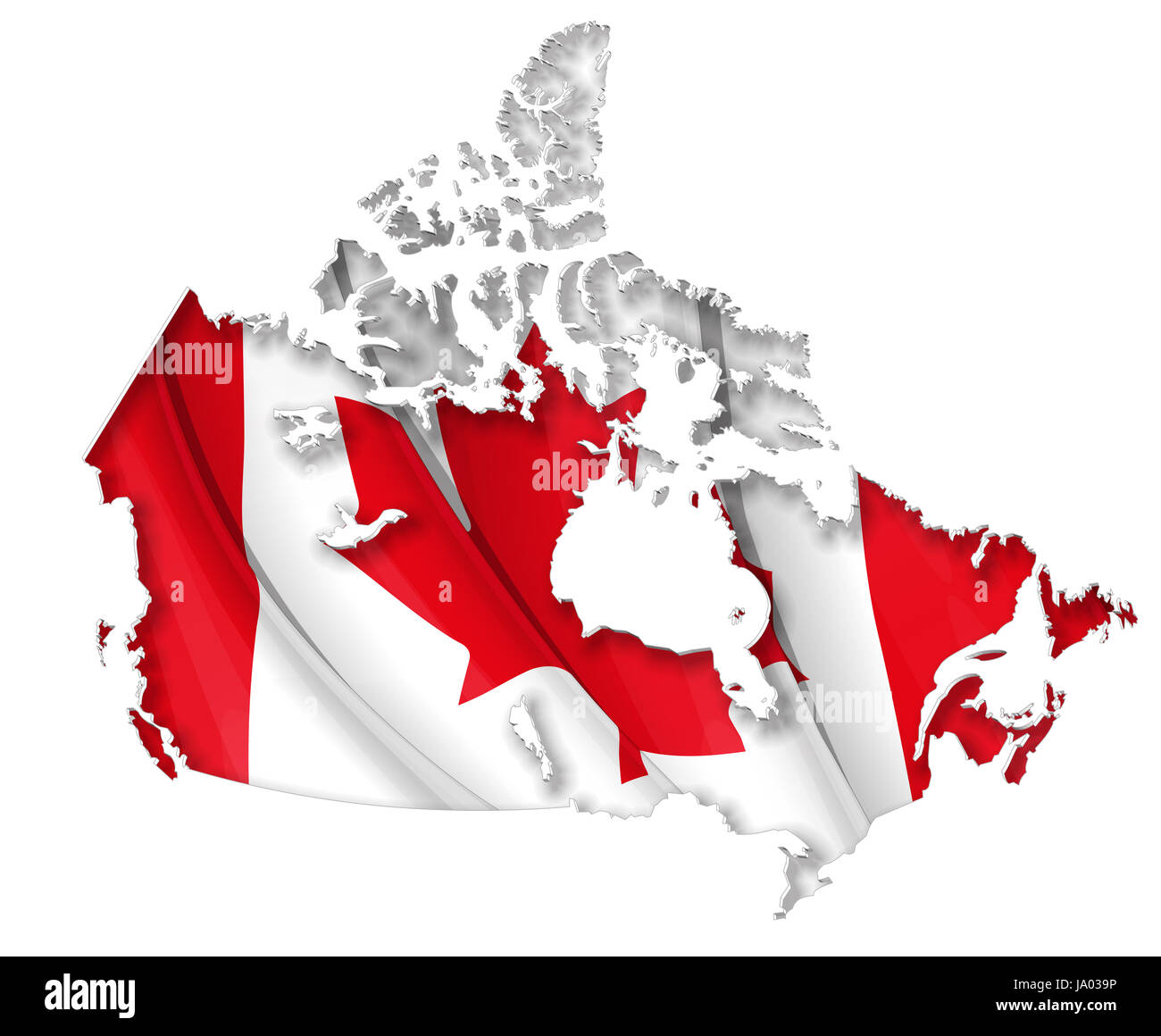 canada flag north america cut out canadian map atlas map of