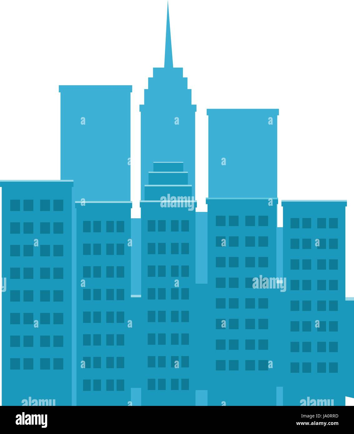 Outline athens skyline with blue buildings and copy space stock vector - Skyscrapers Buildings Towers City Business Architecture Apartment And Office Building Urban Landscape