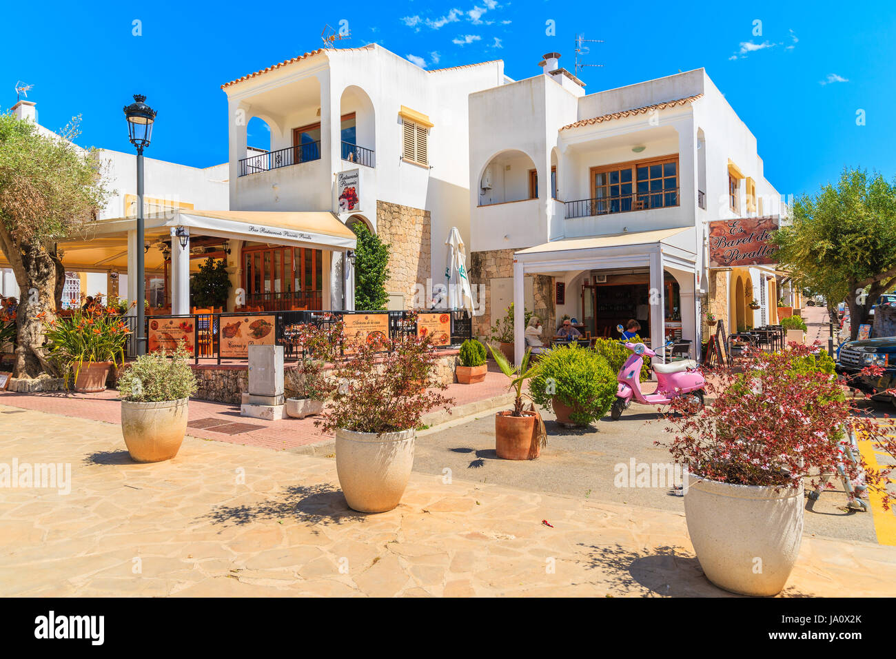 ibiza island, spain - may 18, 2017: traditional restaurant