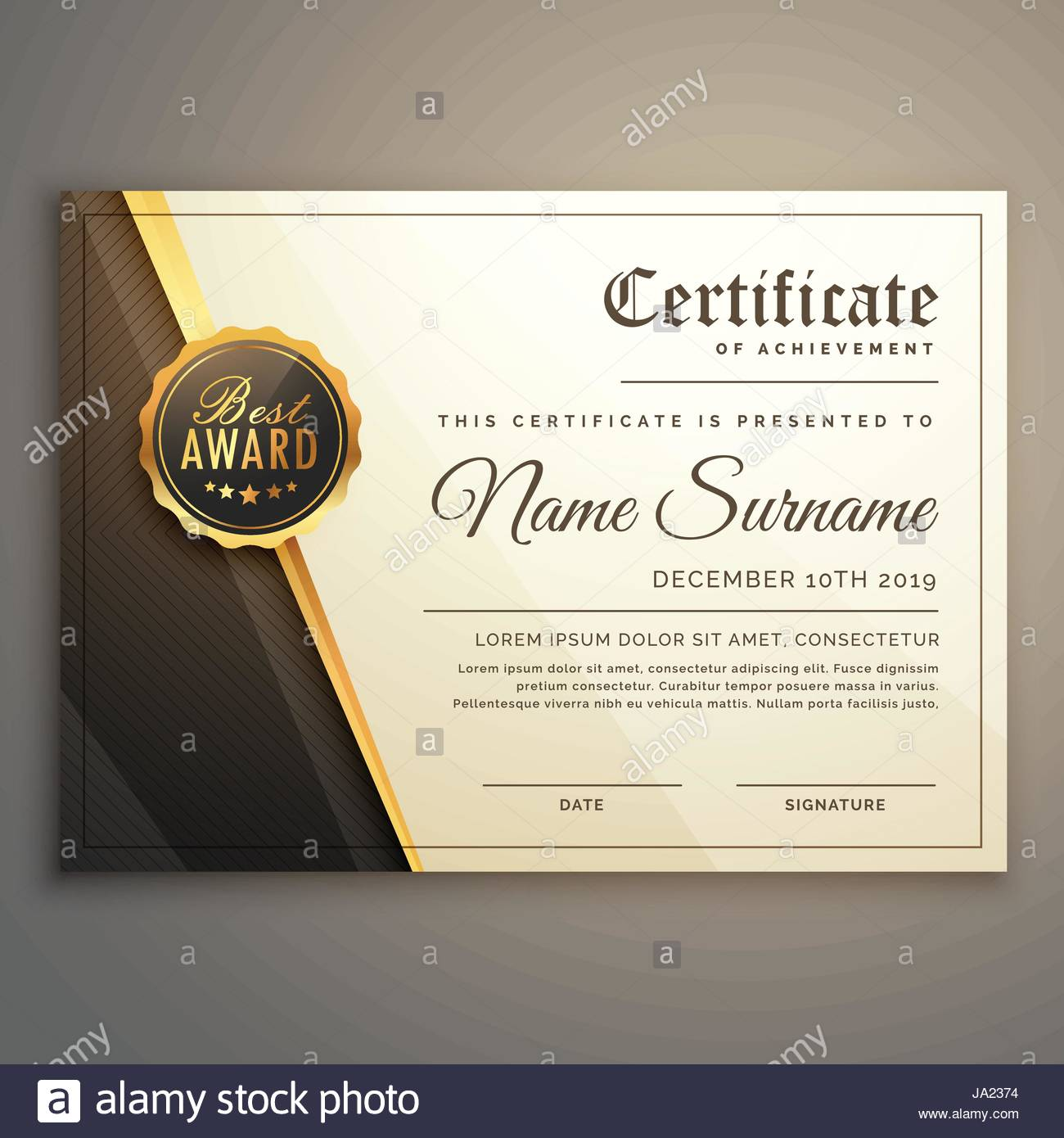 Premium certificate design vector template stock vector art premium certificate design vector template yelopaper Choice Image