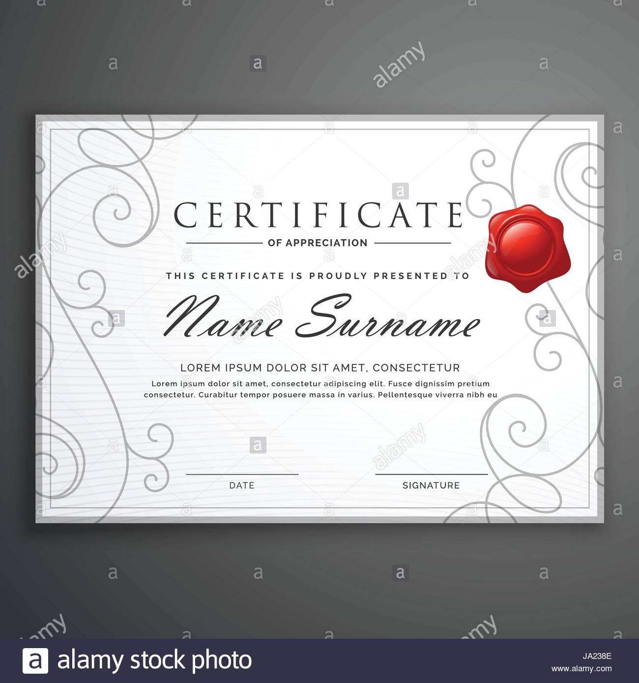 Clean elegant white diploma certificate design template stock clean elegant white diploma certificate design template alramifo Images