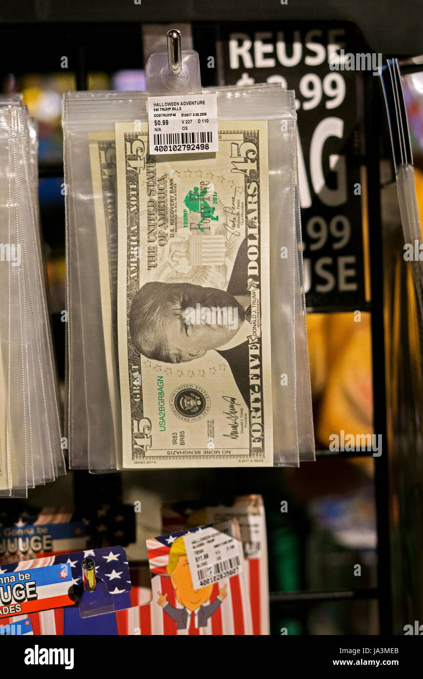 fake money with photos of president donald trump for sale at the halloween adventure in greenwich village new york city - Halloween Adventure New York