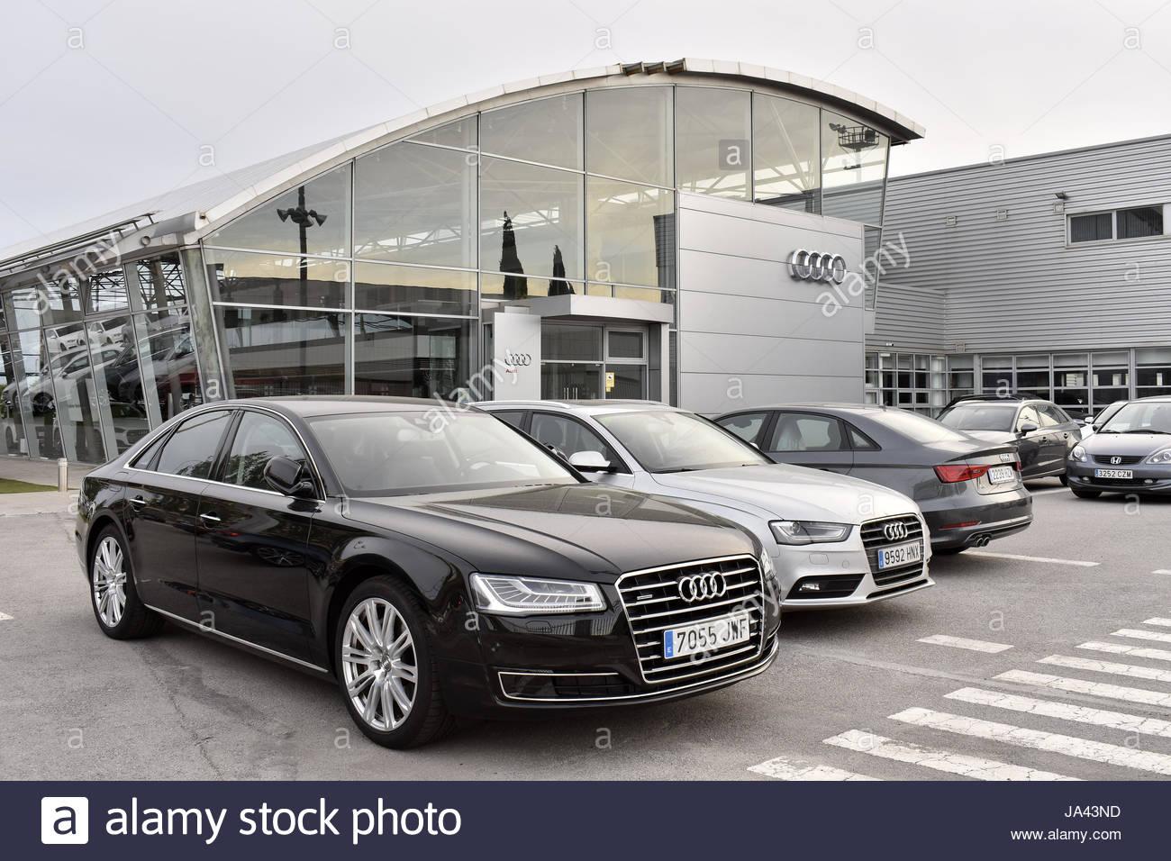 Audi Cars Dealer Store In Barcelona Spain Europe Stock Photo - Audi car dealers