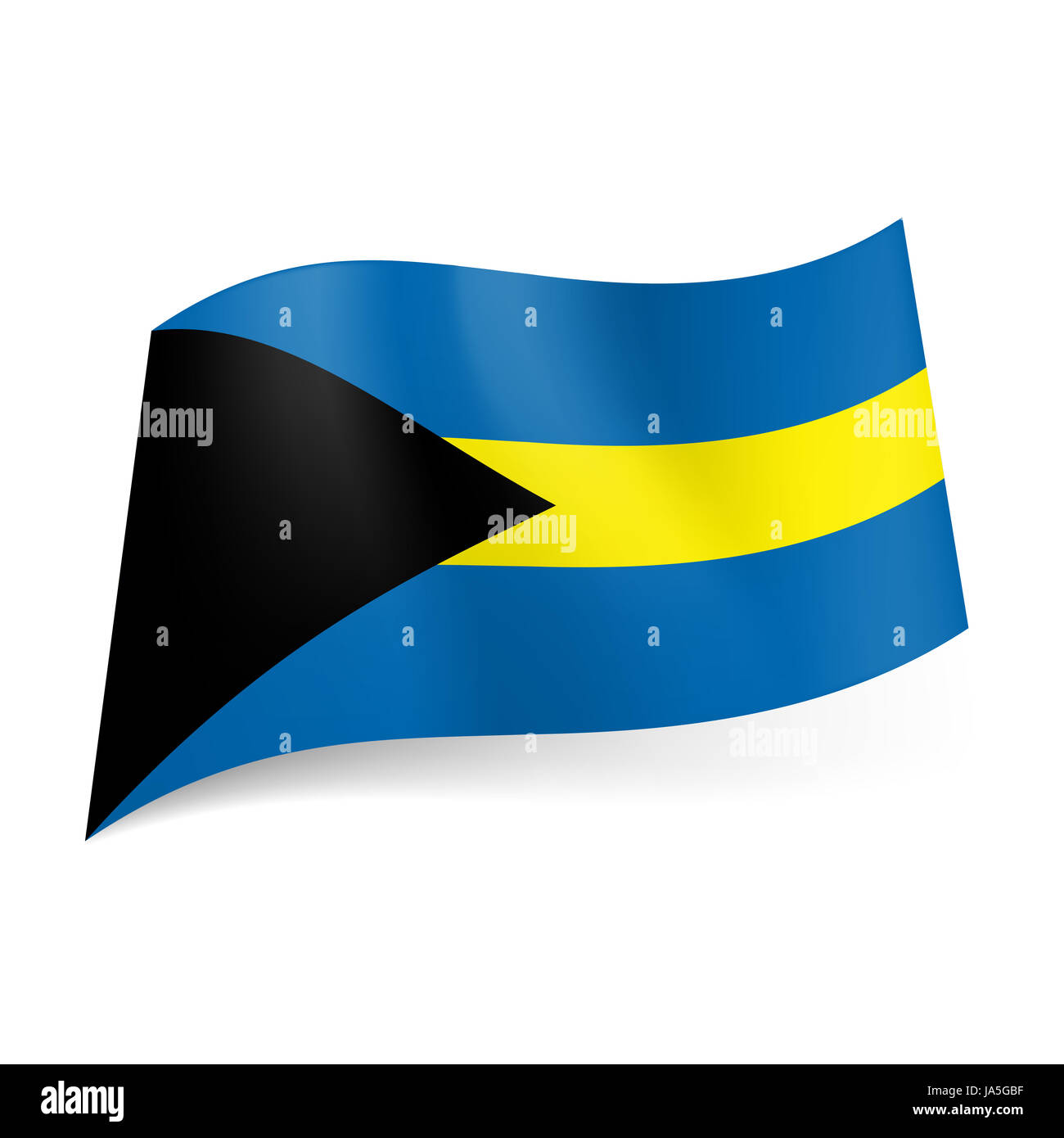 National flag of bahamas blue and yellow horizontal stripes with national flag of bahamas blue and yellow horizontal stripes with black triangle on the left biocorpaavc Image collections