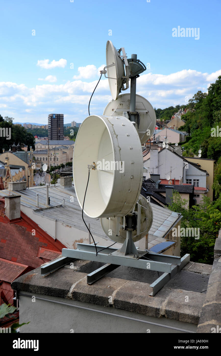 Stock Photo   Antenna Installation On A Roof