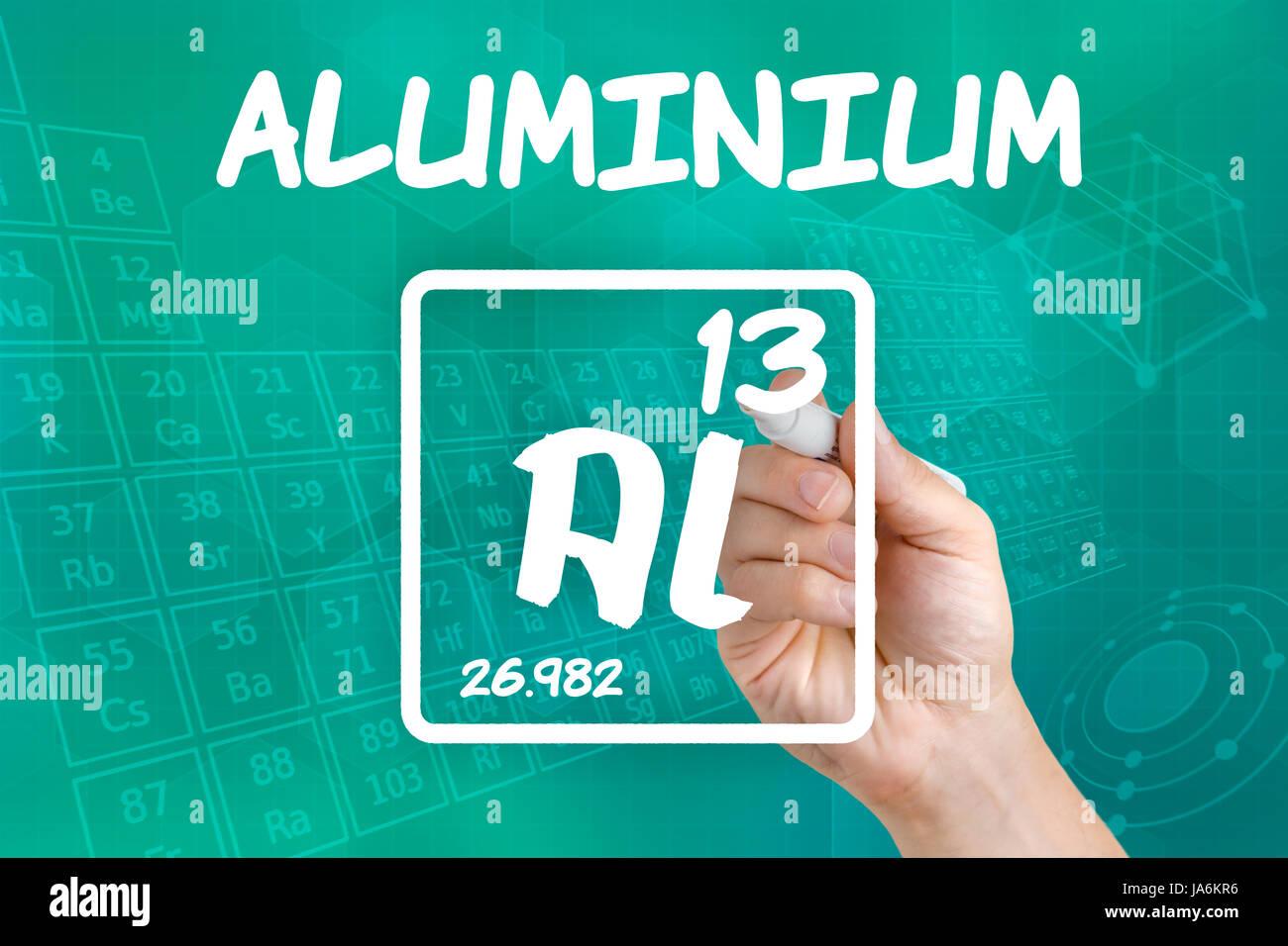 Symbol of the chemical element aluminum stock photo royalty free symbol of the chemical element aluminum gamestrikefo Image collections