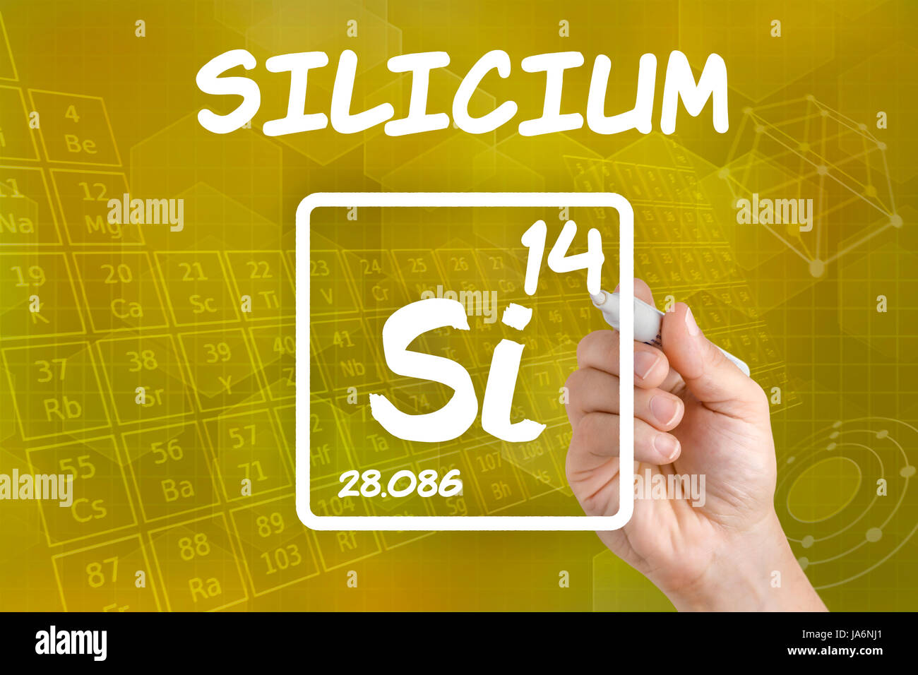 Symbol of the chemical element silicon stock photo 143978185 alamy symbol of the chemical element silicon biocorpaavc Gallery
