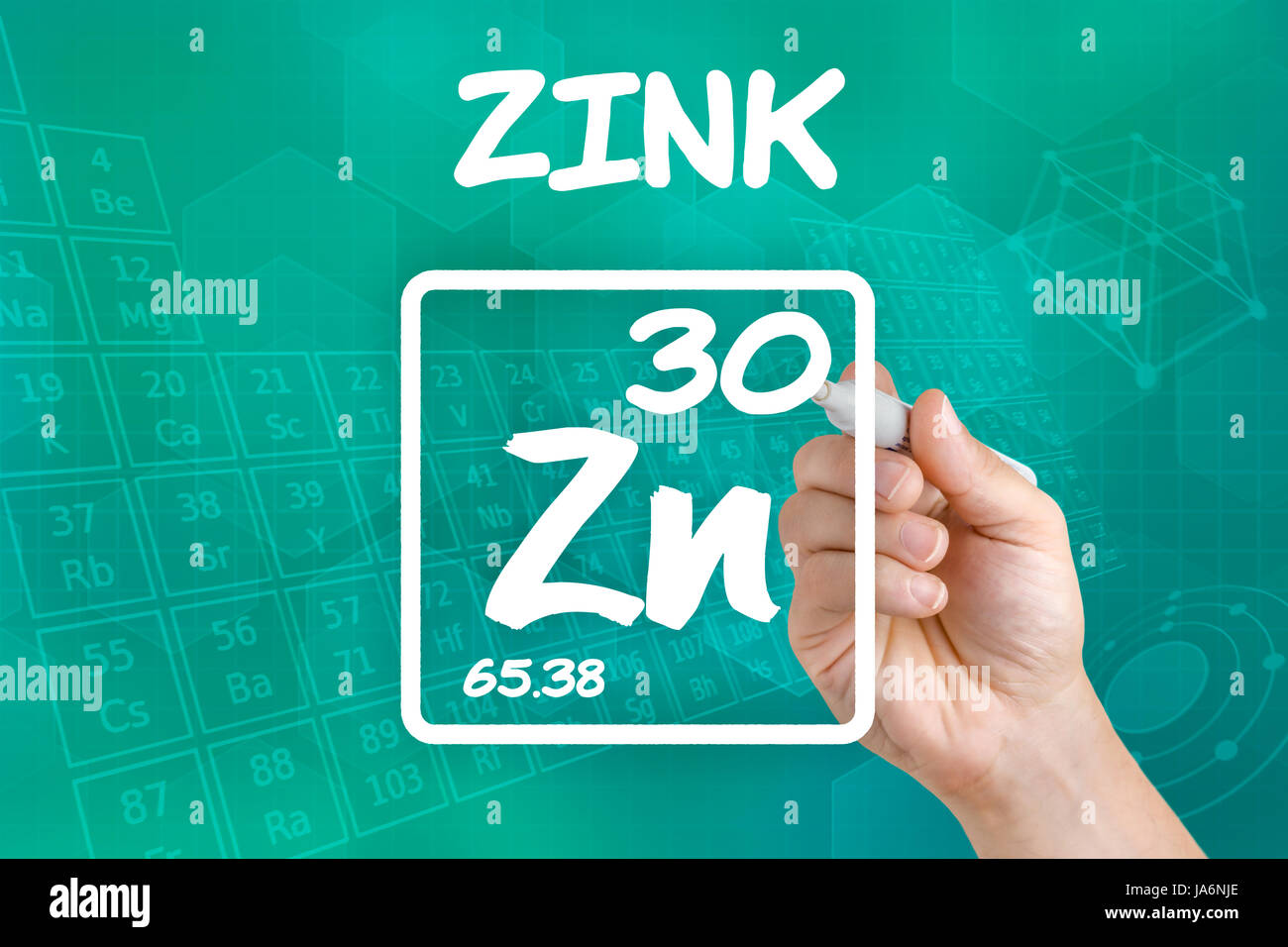 Symbol of the chemical element zinc stock photo 143978198 alamy symbol of the chemical element zinc buycottarizona Gallery
