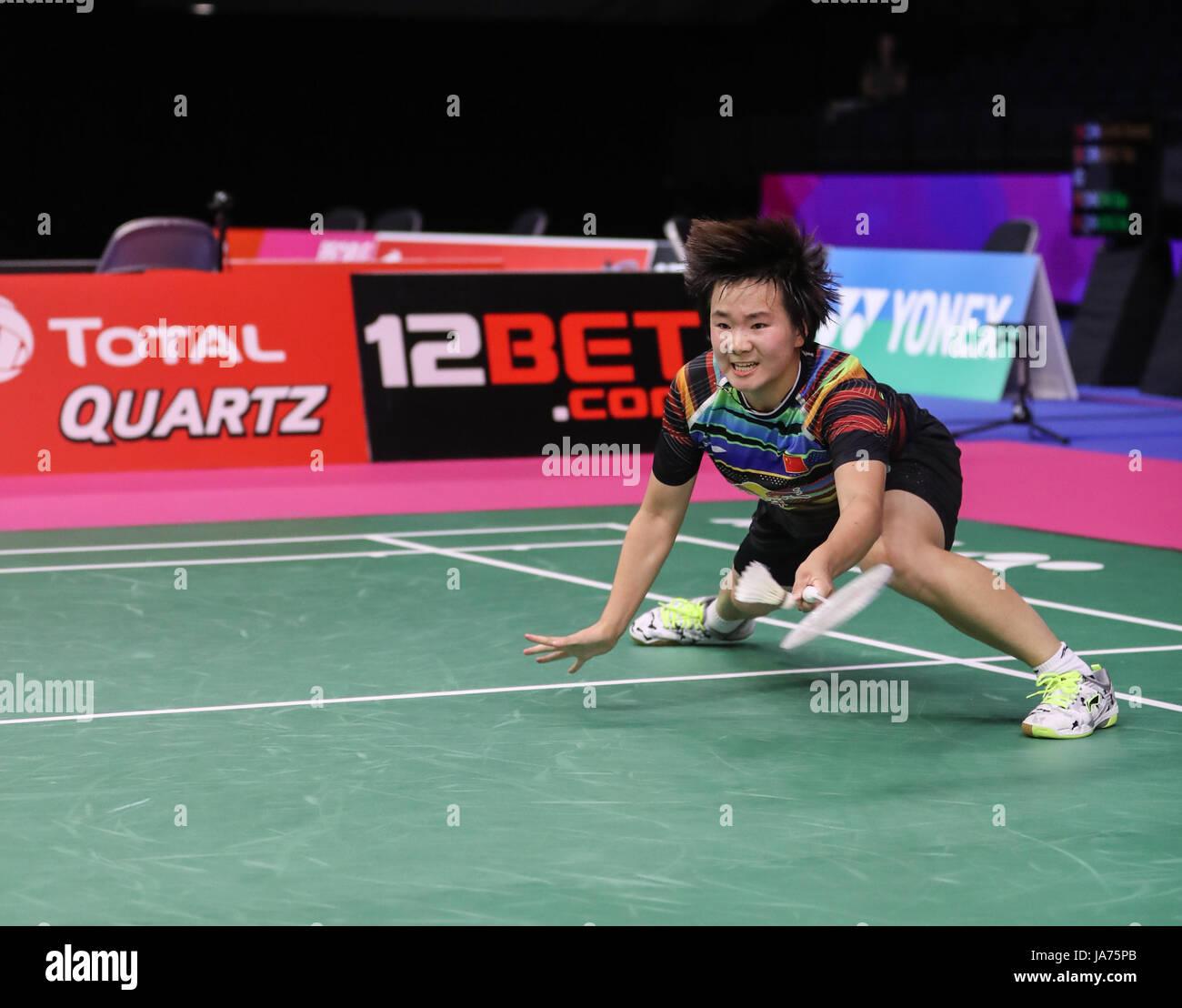 GLASGOW Aug 25 2017 Xinhua He Bingjiao of China