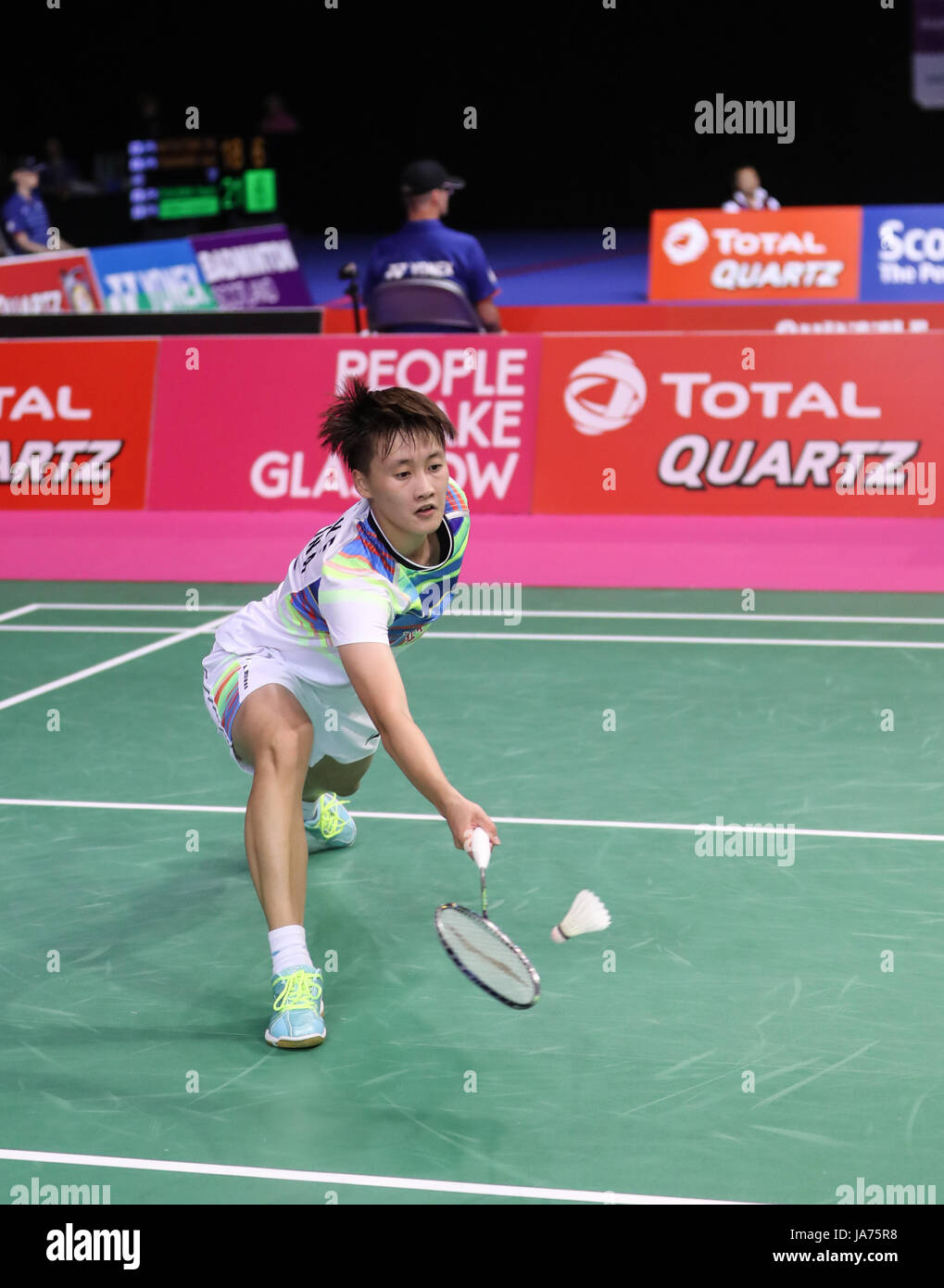 GLASGOW Aug 25 2017 Xinhua Chen Yufei of China