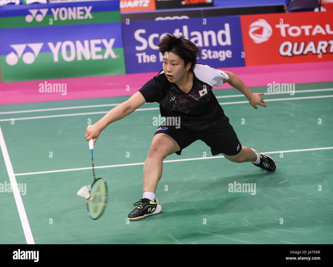 GLASGOW Aug 25 2017 Xinhua Akane Yamaguchi of