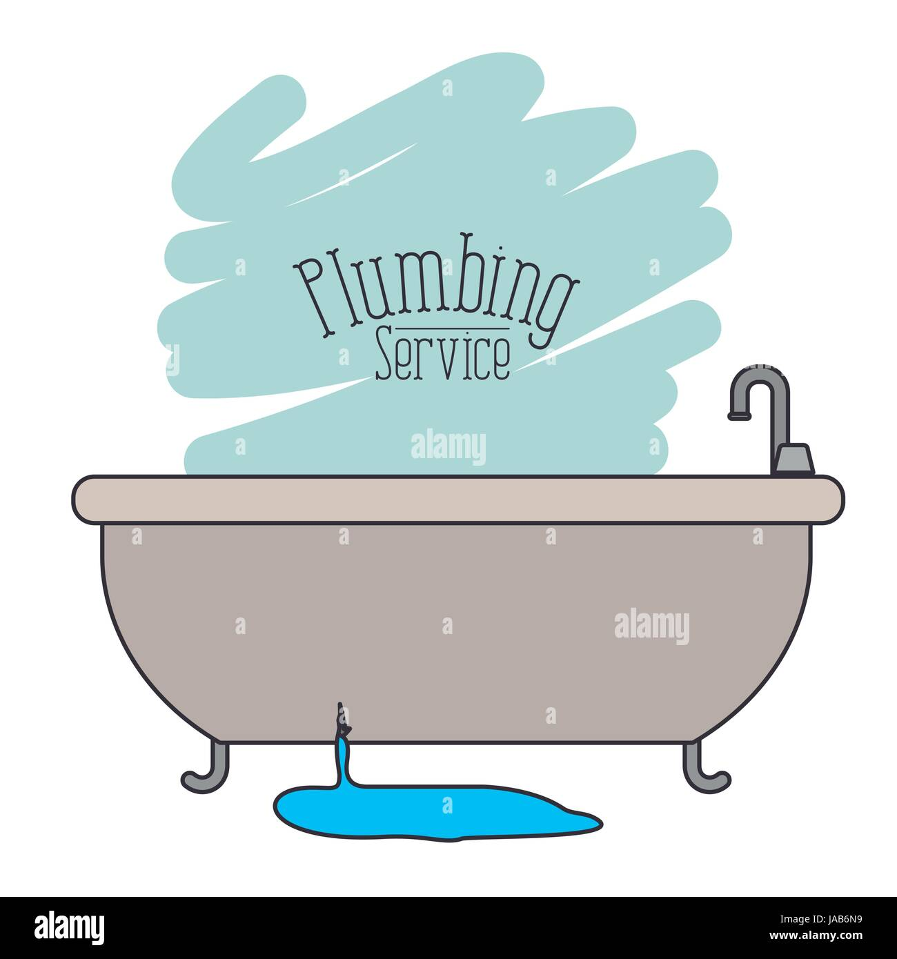 Stock Vector   scene of bath dripping flooded plumbing service. scene of bath dripping flooded plumbing service Stock Vector Art