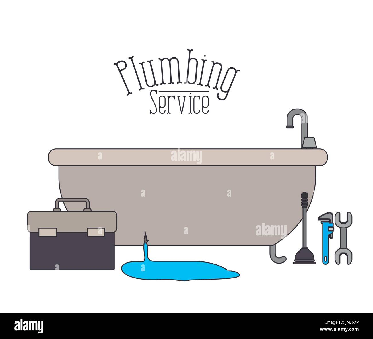 Stock Vector   color poster of bath dripping flooded plumbing service. color poster of bath dripping flooded plumbing service Stock