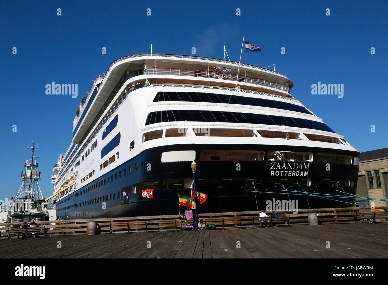 Holland America Line HAL Cruise Ship The Zaandam Docked In The - Zaandam ship