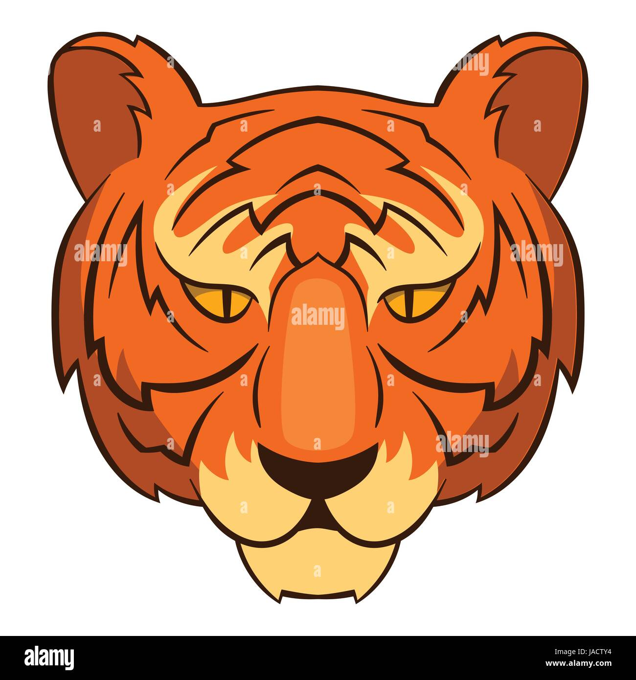 Tiger head symbol of south korea economics icon cartoon tiger head symbol of south korea economics icon cartoon illustration of tiger vector icon for web design biocorpaavc