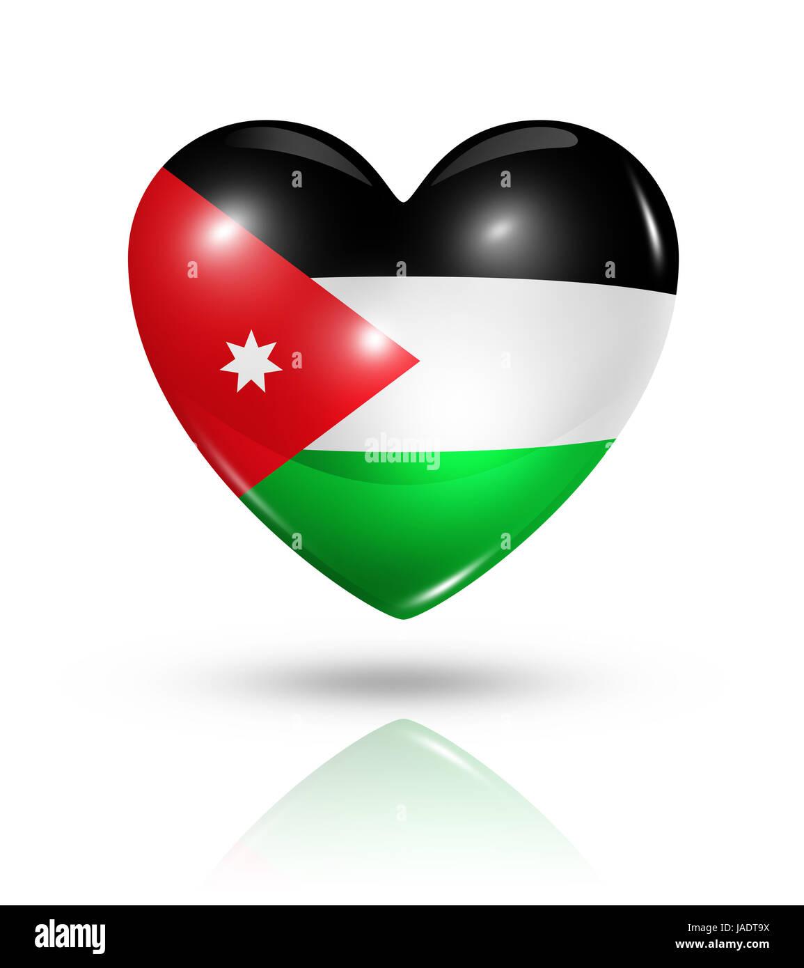 Love jordan symbol 3d heart flag icon isolated on white with love jordan symbol 3d heart flag icon isolated on white with clipping path voltagebd Choice Image