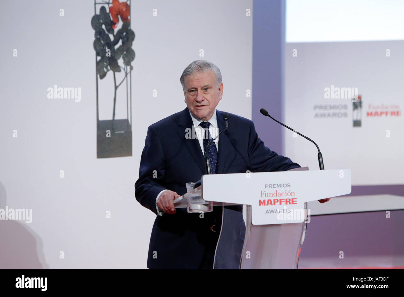 Valentin Fuster During The Delivery Of The Fundacion Mapfre Awards In  Madrid, Tuesday 6 June 2017 Credit: Gtres Información Más Comuniación On