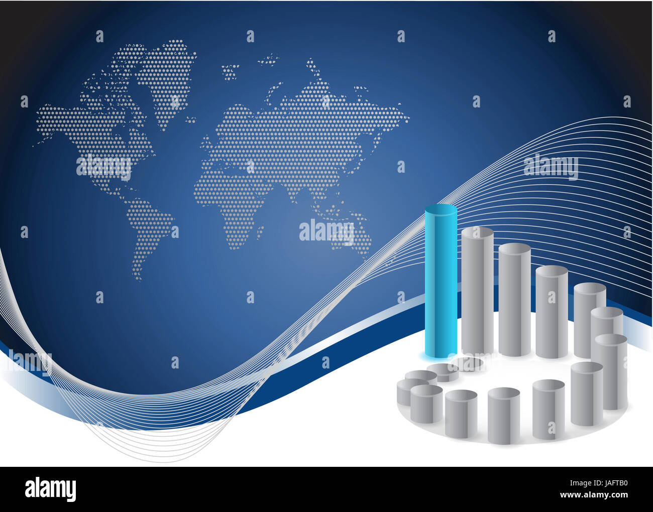 Stock Photo   background with creative bar graphs and map. background with creative bar graphs and map Stock Photo  Royalty