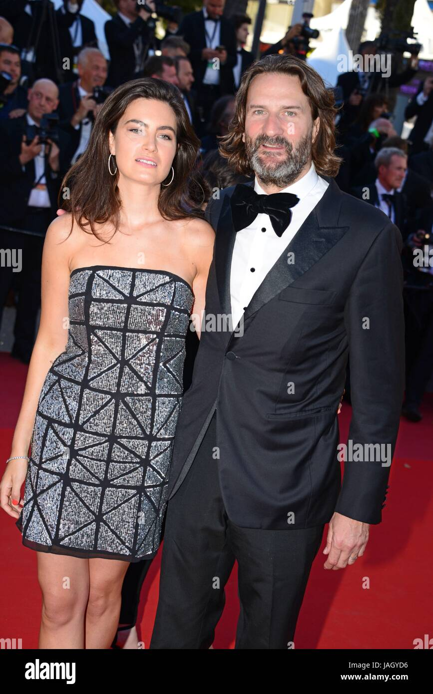 fr d ric beigbeder and lara micheli arriving on the red carpet for stock photo royalty free. Black Bedroom Furniture Sets. Home Design Ideas