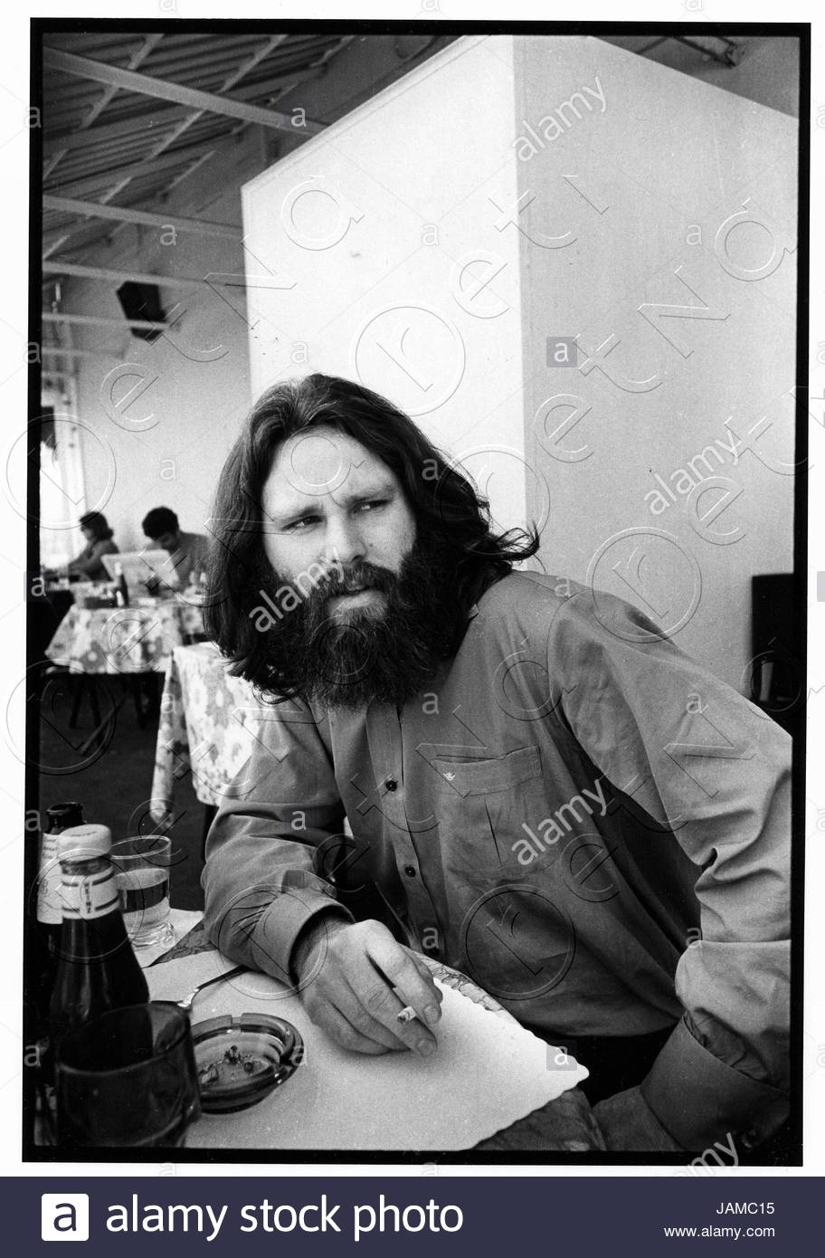 Jim Morrison of The Doors photographed at the Garden District restaurant on La Cienega in West Hollywood CA in 1970. This was one of Jim\u0027s last American ...  sc 1 st  Alamy & Jim Morrison of The Doors photographed at the Garden District ...