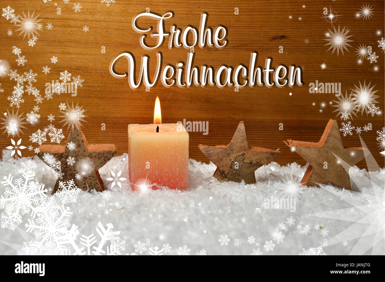 Frohe Weihnachten Dekoration Advent Stock Photo Royalty