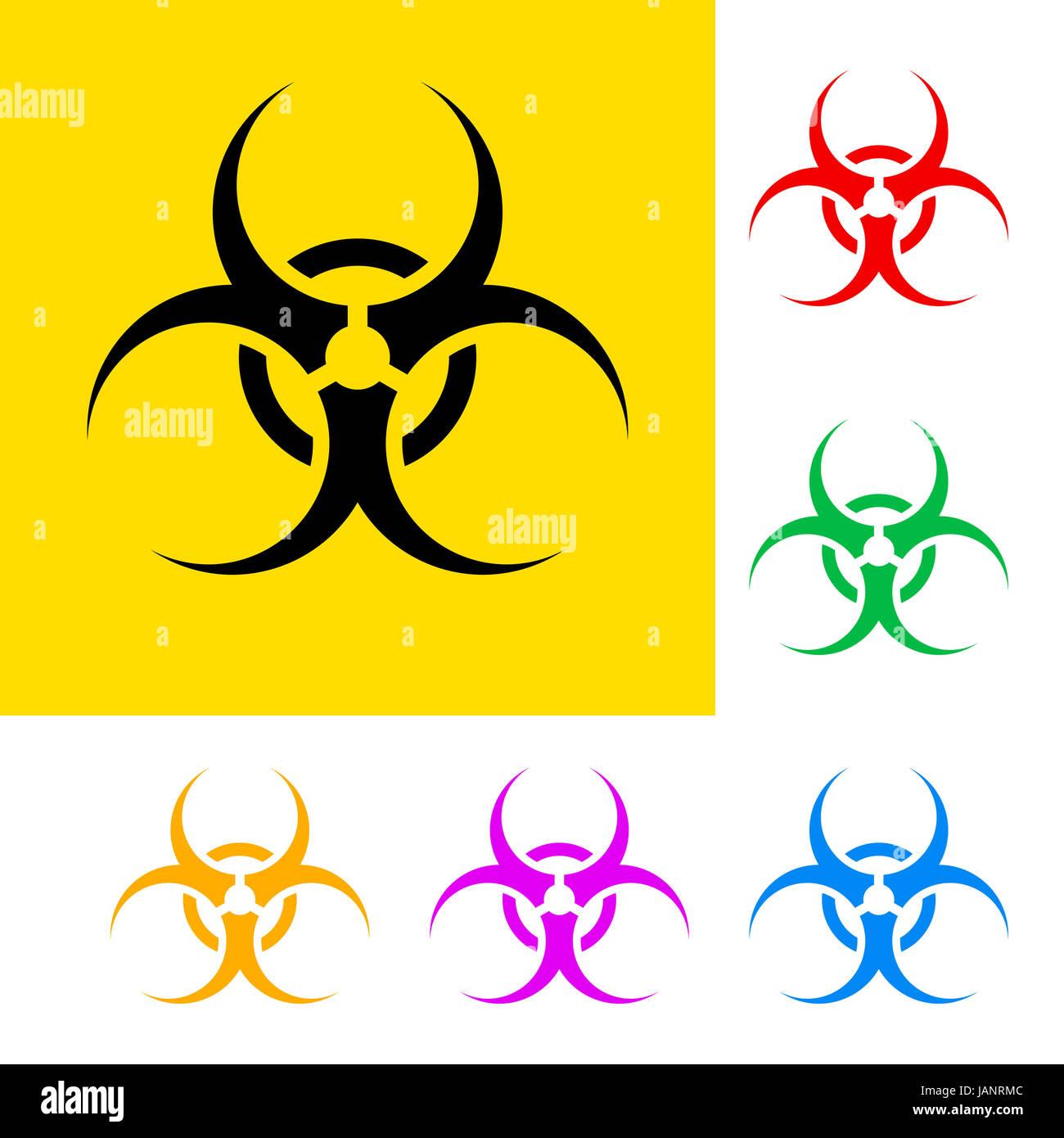 Biological hazard symbols stock photos biological hazard symbols biohazard sign with color variations danger symbols stock image buycottarizona