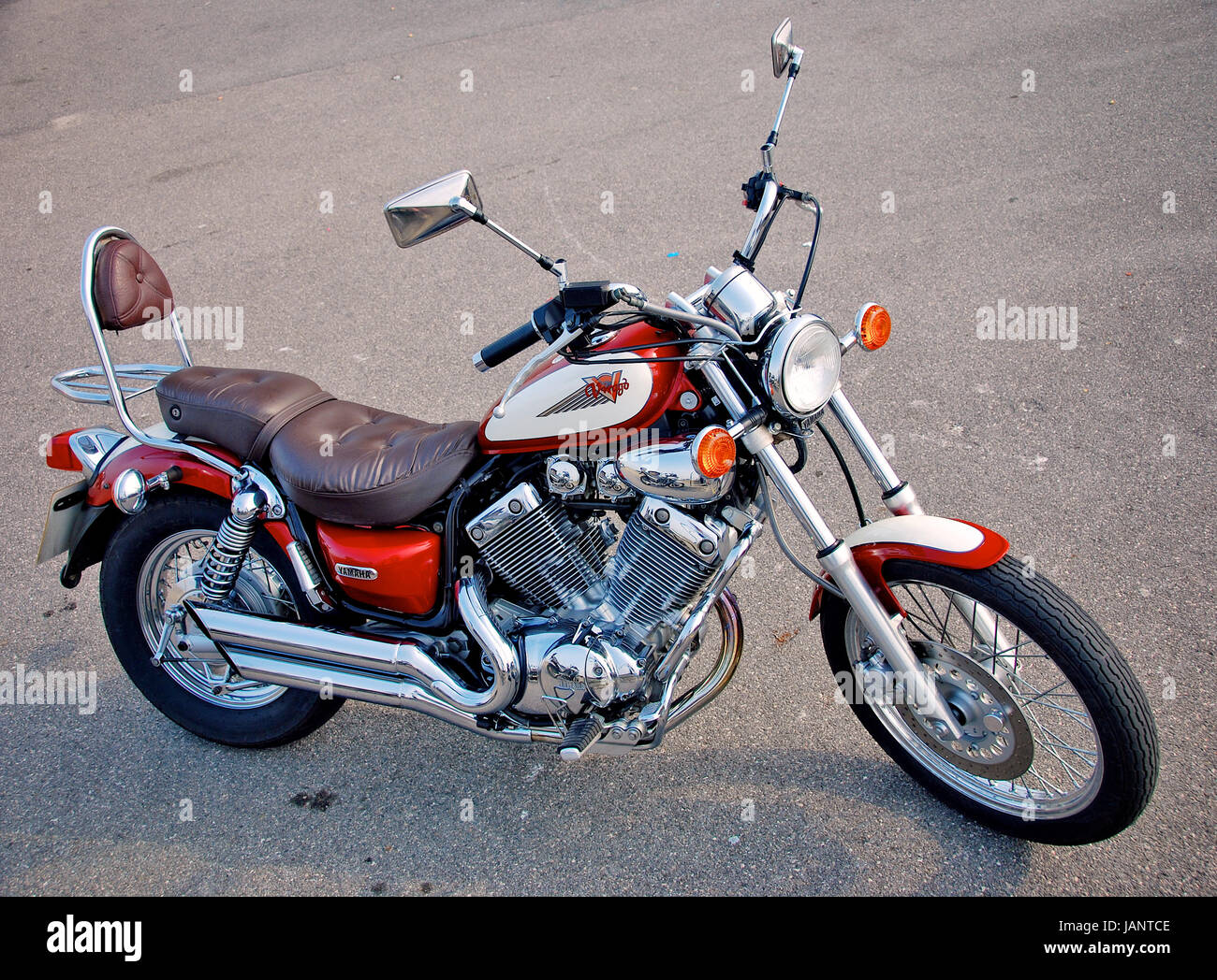 yamaha virago 535 motorcycle stock photo royalty free. Black Bedroom Furniture Sets. Home Design Ideas