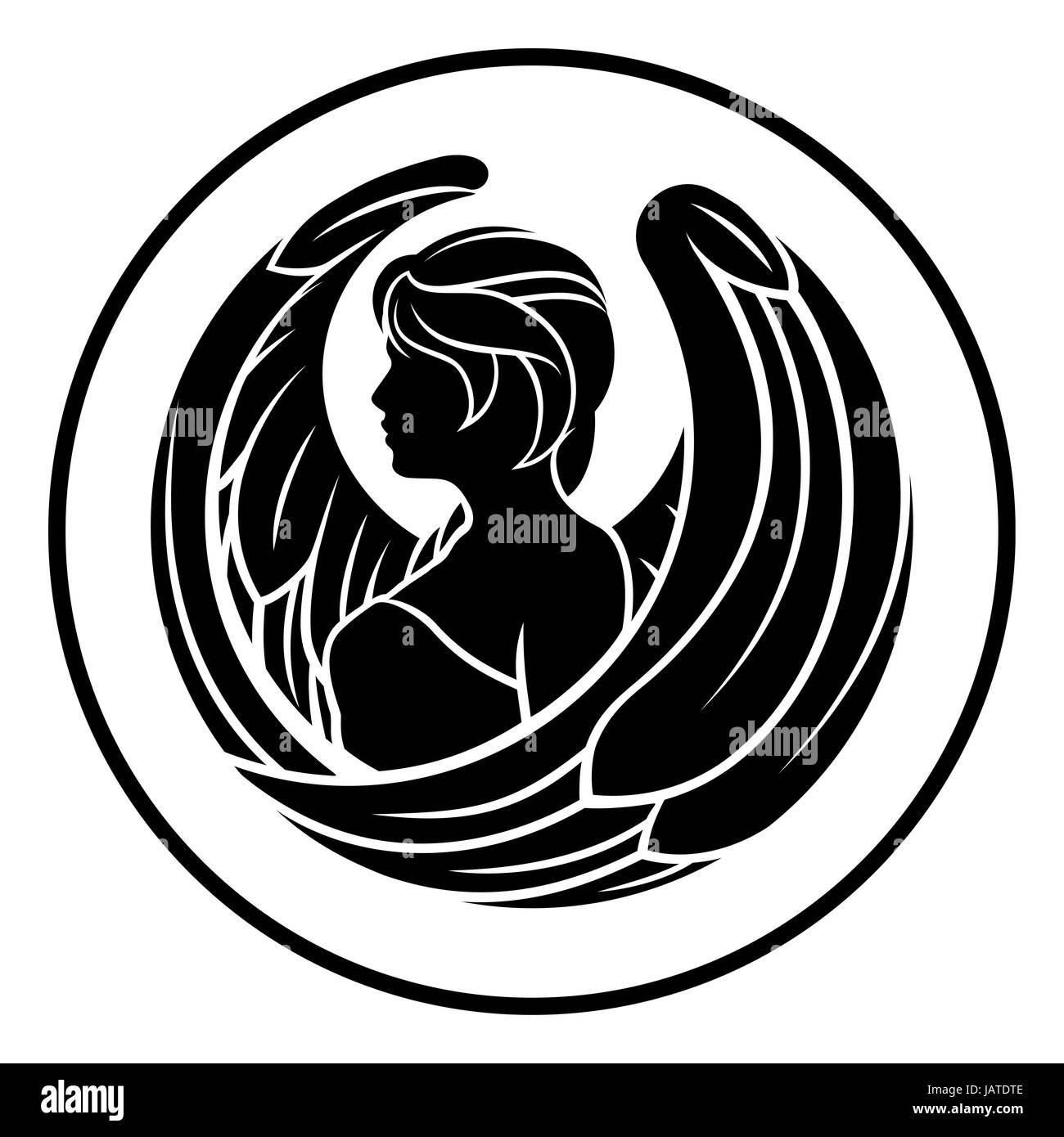 Astrology zodiac signs circular virgo angel horoscope symbol stock astrology zodiac signs circular virgo angel horoscope symbol buycottarizona