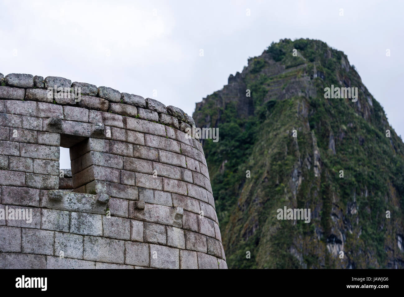 Inca polished dry-stone walls at the Temple of the Sun and Torreon, the