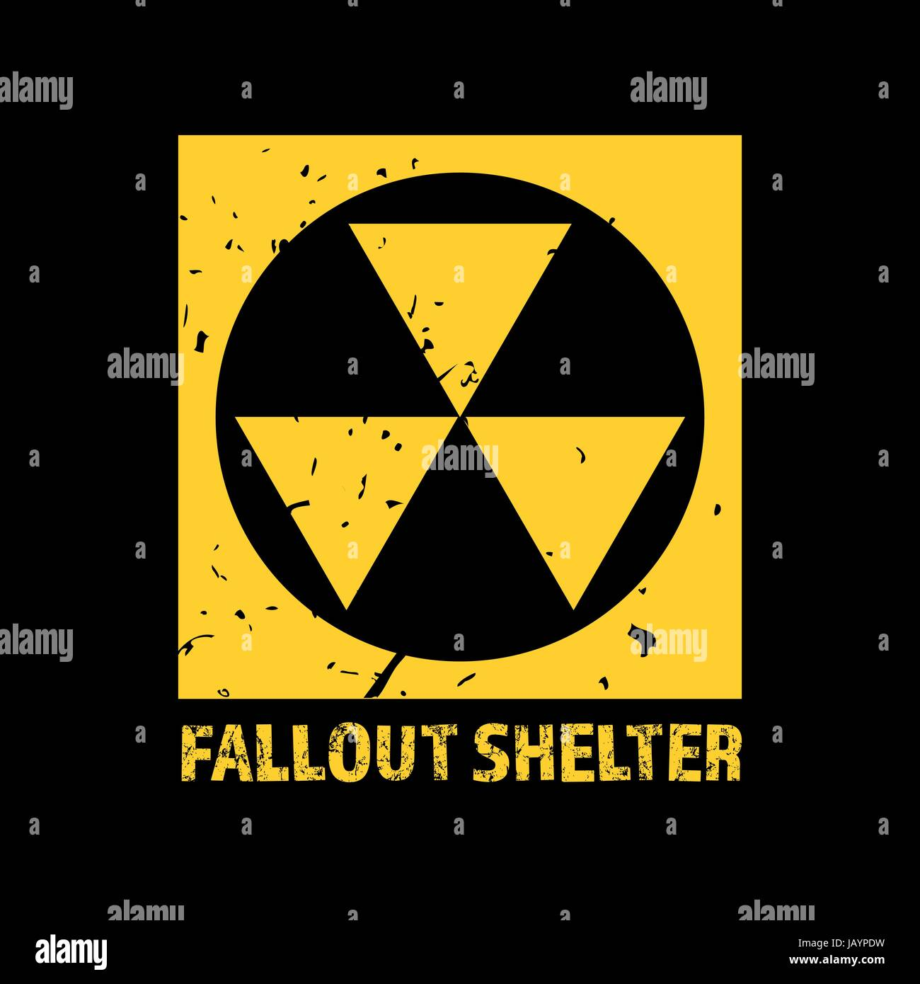 Fallout shelter vintage nuclear symbol radioactive zone sign vintage nuclear symbol radioactive zone sign vector biocorpaavc