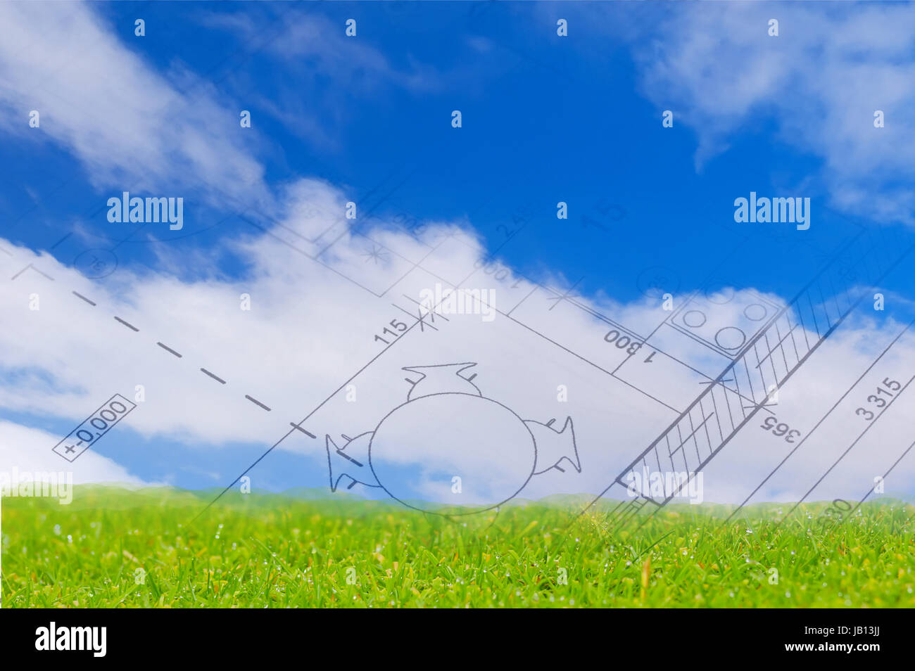 The floor plan of a house blueprint blue sky with clouds and the floor plan of a house blueprint blue sky with clouds and green land malvernweather Images