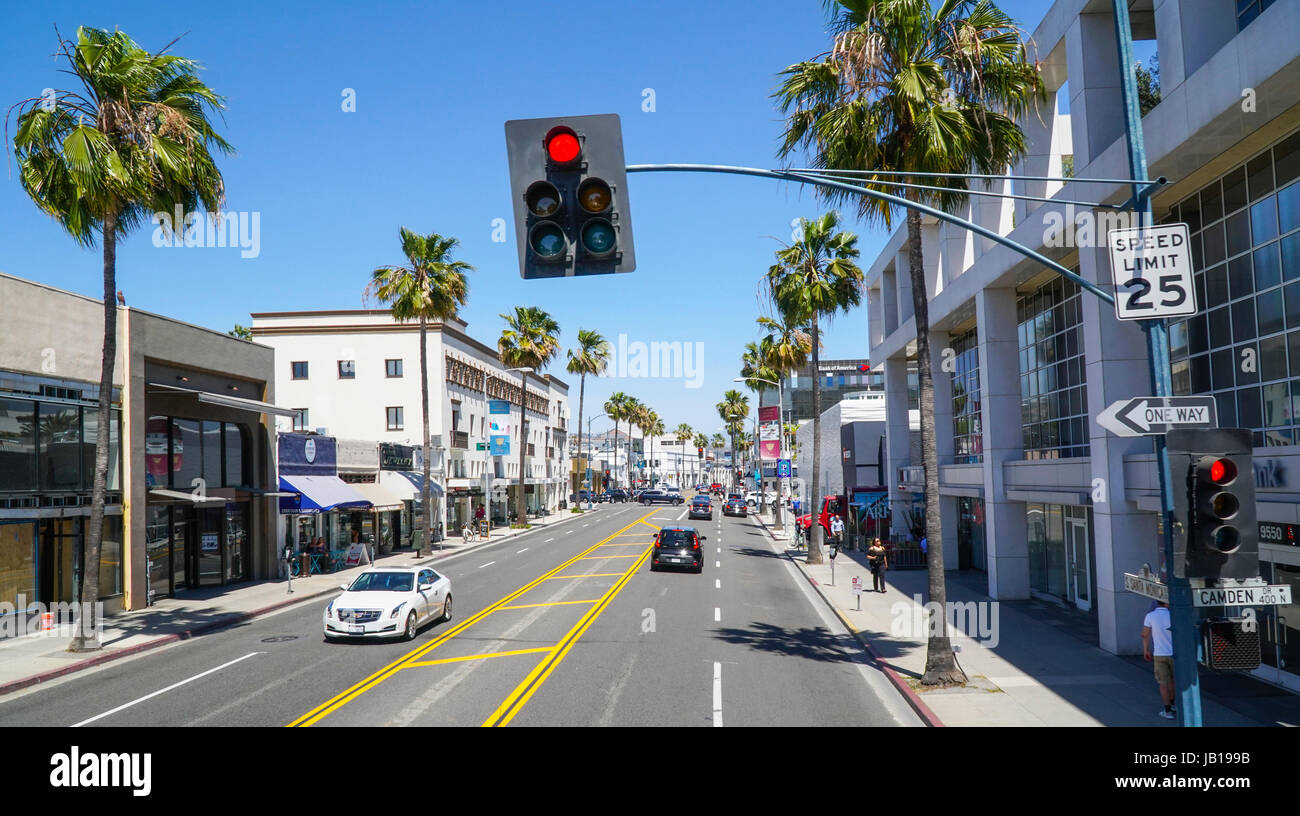 Famous American Architecture Santa Monica Boulevard Street View In Beverly Hills Los