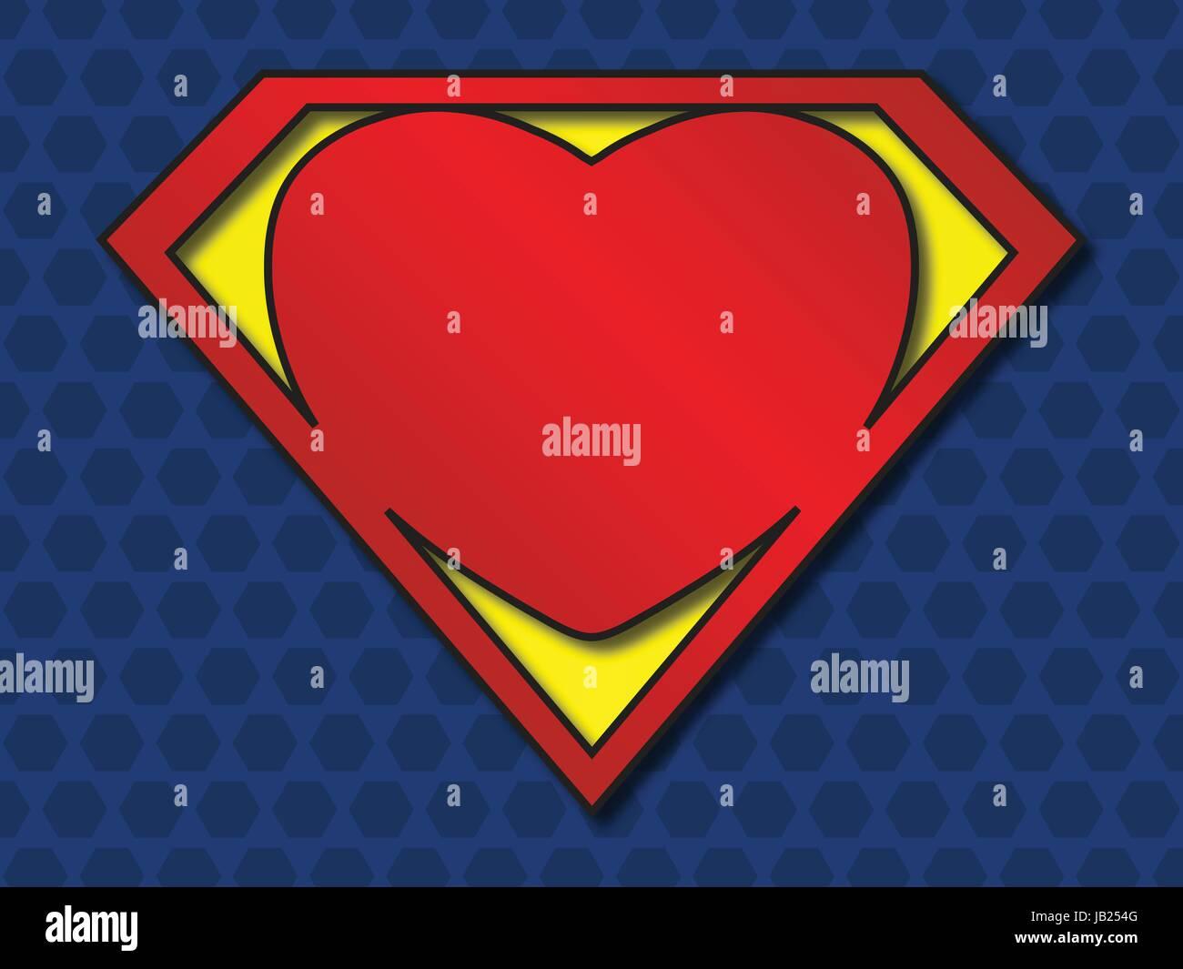 A big red heart shaped like a superhero shield symbol for strong a big red heart shaped like a superhero shield symbol for strong love eps10 vector buycottarizona Image collections
